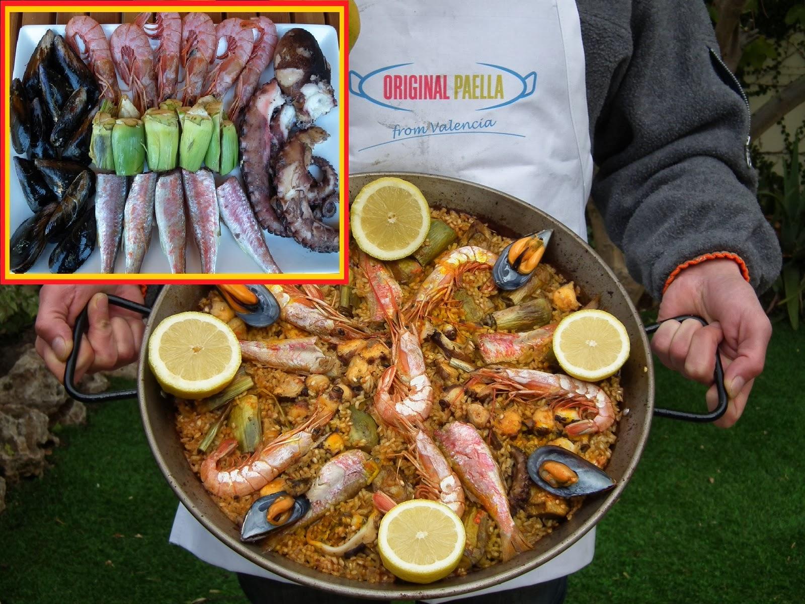 Octopus, Red Mullet, Shrimp and Artichokes Paella Recipe