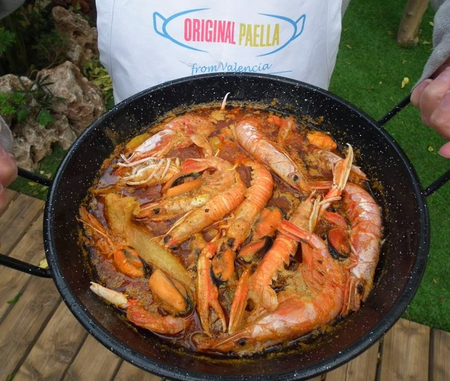 """Suquet de Peix"" or ""Zarzuela"" paella recipe from Valencia, Spain"