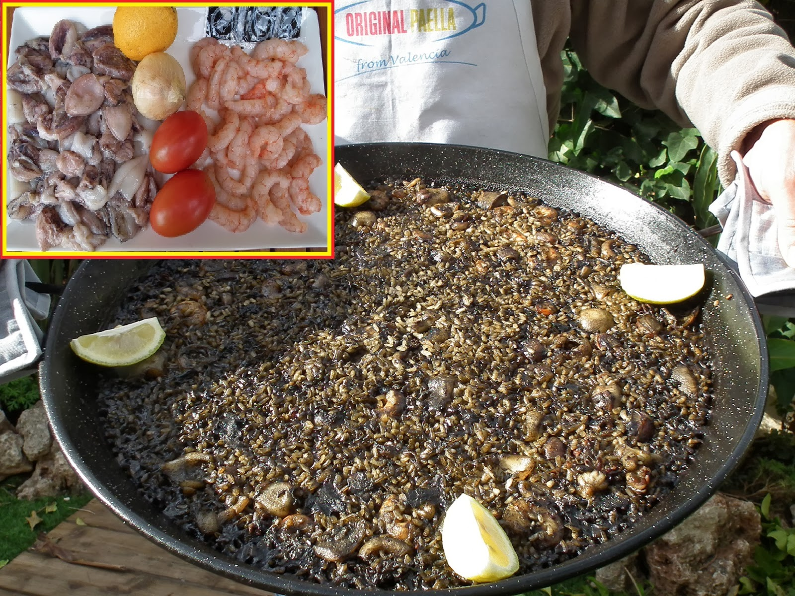 arroz negro black rice paella recipe