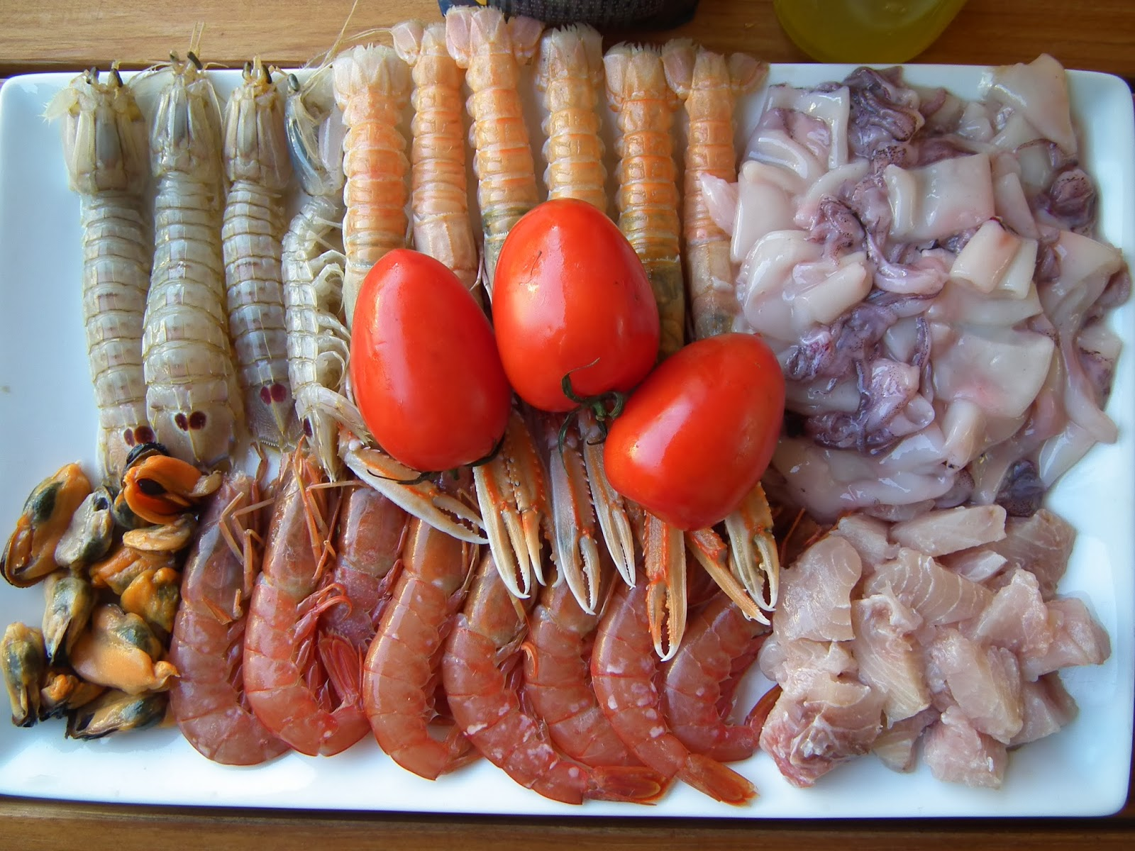 ingredients photo seafood paella recipe